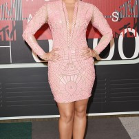 10/10 Demi Lovato in a textured,pink Nicolas Jebran mini-dress. Demi can pretty much pull of anything! Getty Images