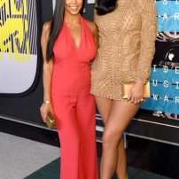 Kourtney Kardashian 10/10 Kylie Jenner 1/10 Believe it or not both are wearing Balmain. Kourtney looked stunning in a coral jumpsuit however Kylie's textured mini-dress is just too thick of a fabric, making her look chunky. Getty Images