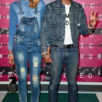 5/10 Helen Lasichanh & Pharrel Williams in DOUBLE DENIM! For some reason it just looks too casual for the red carpet. Frazer Harrison/ Getty Images