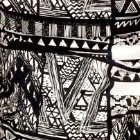 AZTEC pocket square available in both cotton and silk.